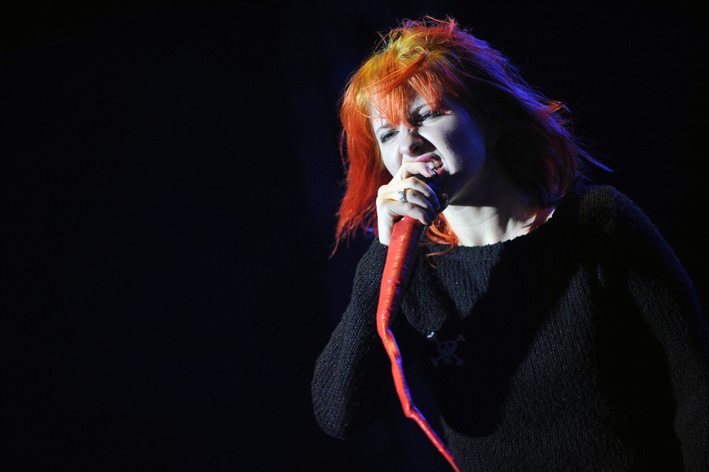 Singer Hayley Williams of the band Paramore during a performance at Rock for People festival in Hradec Kralove, Czech Republic, July 3, 2011. (AFP/Hradec Kralove)