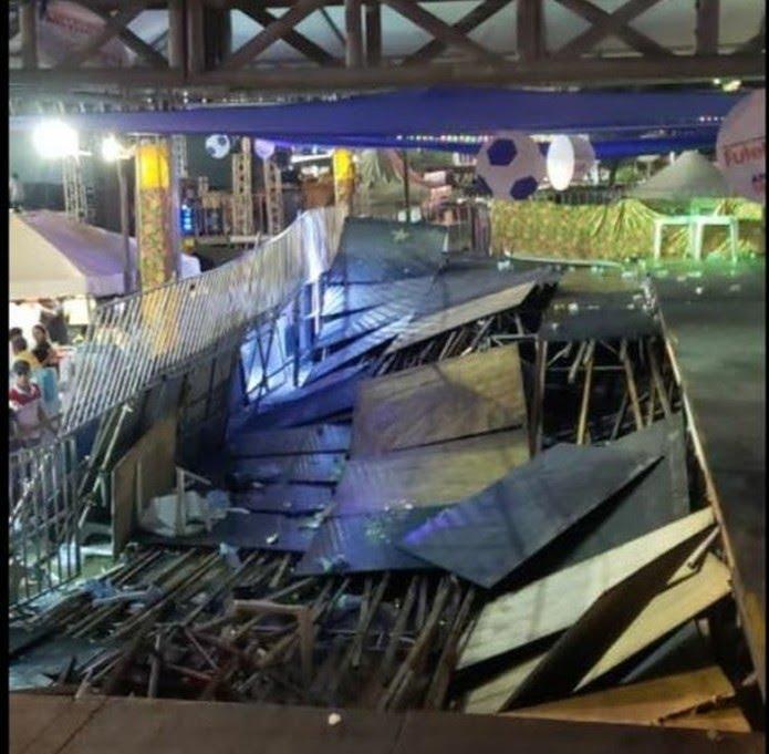 Parte de camarote desaba durante show de Xand Avião no Mossoró Cidade Junina